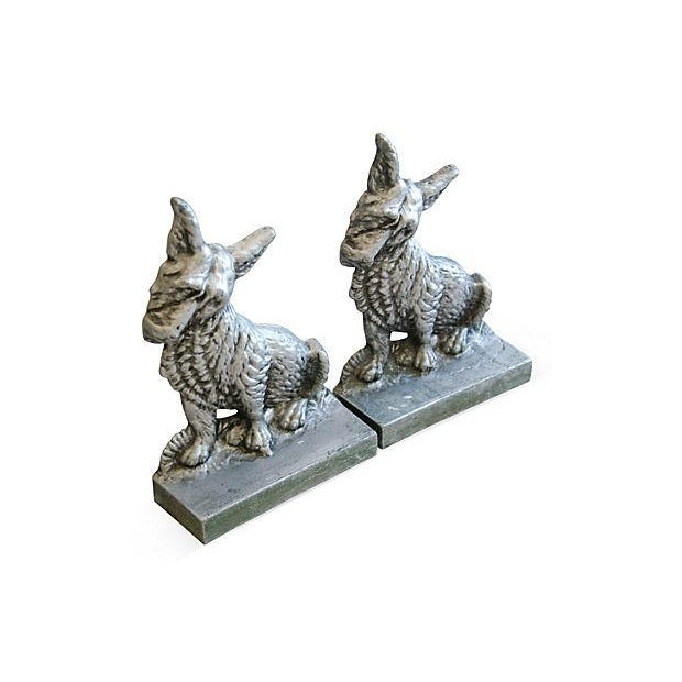 Image of 1960s Terrier Dog Bookends- A Pair
