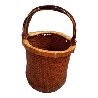Vintage Handmade Chinese Vegetable Basket