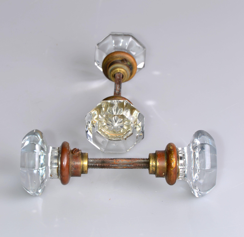 Art Deco Lucite U0026 Brass Door Knobs   A Pair   Image 5 ...