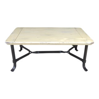 French Country White Coffee Table