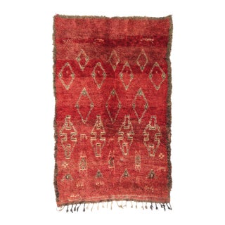 Vintage Moroccan Tribal Boujad Rug - 5′8″ × 9′
