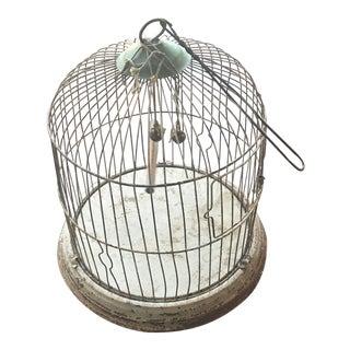 Vintage Shabby Chic White Bird Cage
