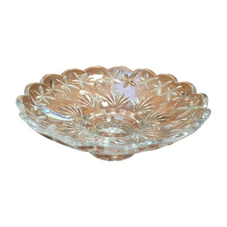 Crystal Vines & Grapes Centerpiece Bowl