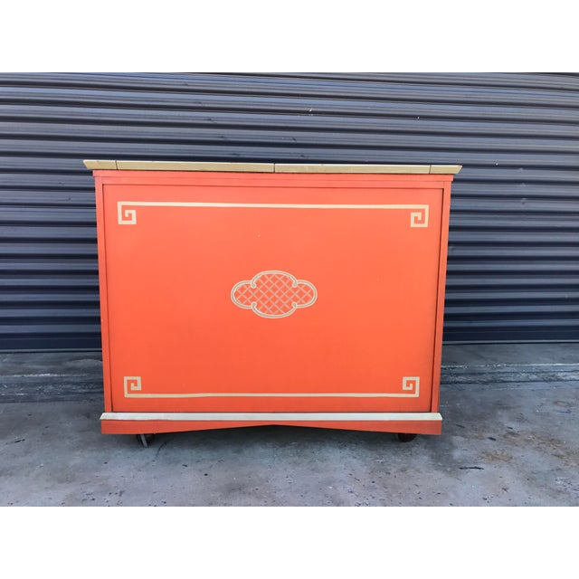 Vintage Chinoiserie Bar Cabinet - Image 5 of 11