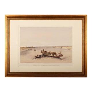 "David Roberts ""Slave Boat On the Nile"" Print"