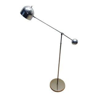 Mid Century Chrome Counterweight Floor Lamp