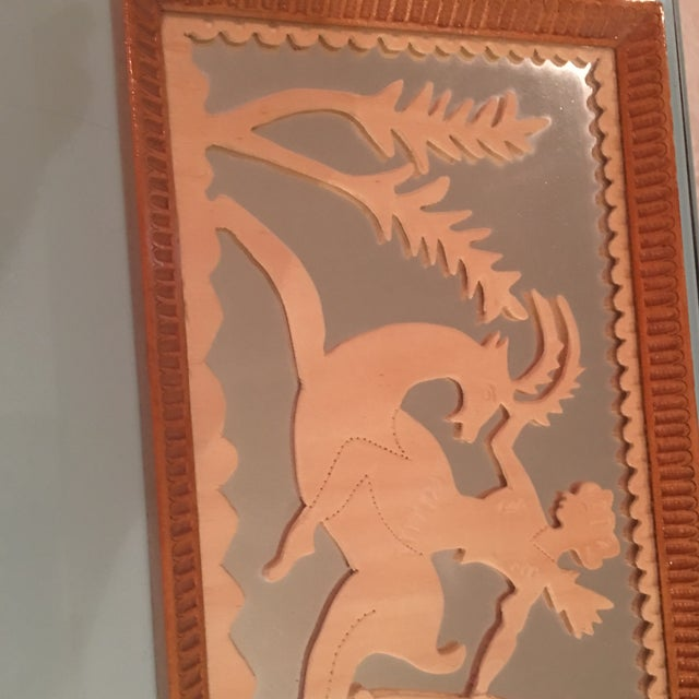 Vintage Art Deco Hand Carved Tray - Image 6 of 7