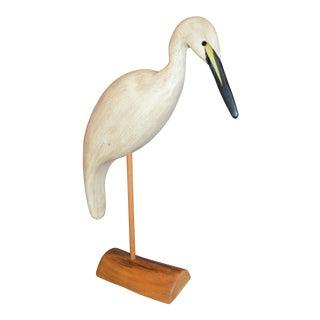 Carved Wooden Figurine of a Stork