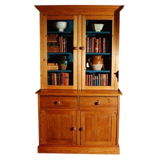Pine Bookcase Cupboard with Drawers