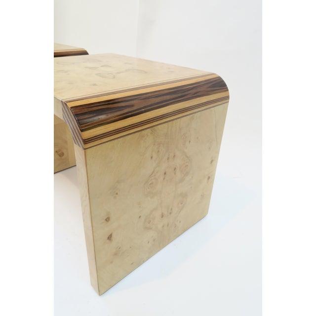 Henredon Vintage Burlwood Side Tables - A Pair - Image 4 of 8