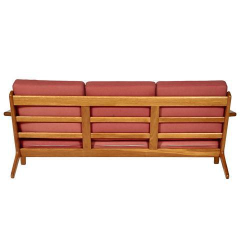 Hans J. Wegner for GETAMA Three Seat Sofa in Oak GE 290 - Image 7 of 10
