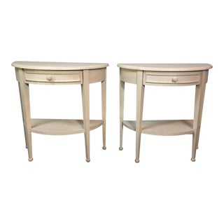 Lane Half-Moon Side Tables - A Pair