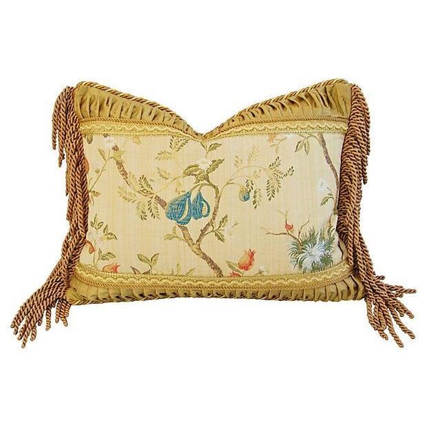 Designer Scalamandre Melograno Lampas Pillow - Image 1 of 6