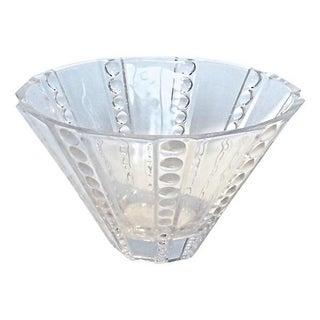 Art Deco Circles Glass Serving Bowl