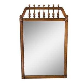 Vintage Walnut Framed Mirror