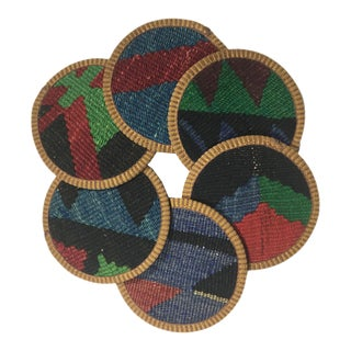 Kilim Coasters Set of 6 | Yonca