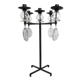 Large Candelabrum by Erik Hoglund for Kosta Boda