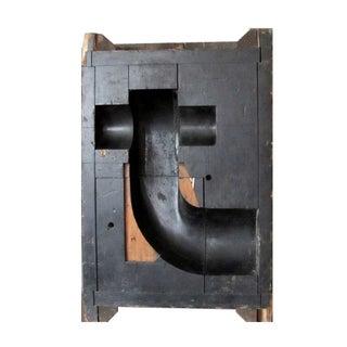 Vintage Black Letter T Mold