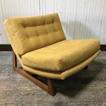 Image of Mid-Century Modern Sled Base Lounge Chairs - A Pair