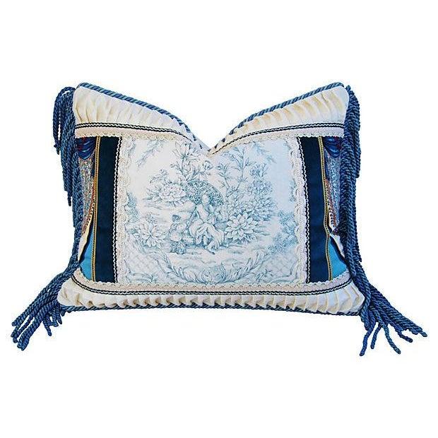 Designer Kravet Blue & White Chinoiserie Pillow - Image 1 of 5