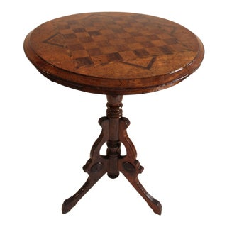 19th Century Round Chess Gaming Table