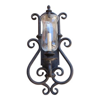 Hurricane Glass Wall Sconce
