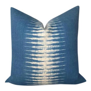 Indigo Blue Ikat Pillow Cover