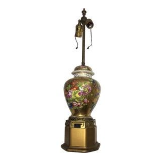Porcelain Floral Ginger Jar Lamp