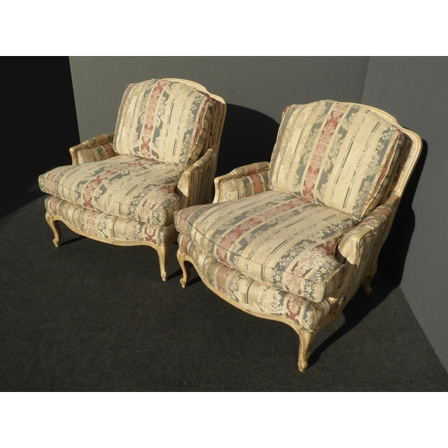 Sam Moore French Striped Accent Chairs Amp Ottoman Set Of