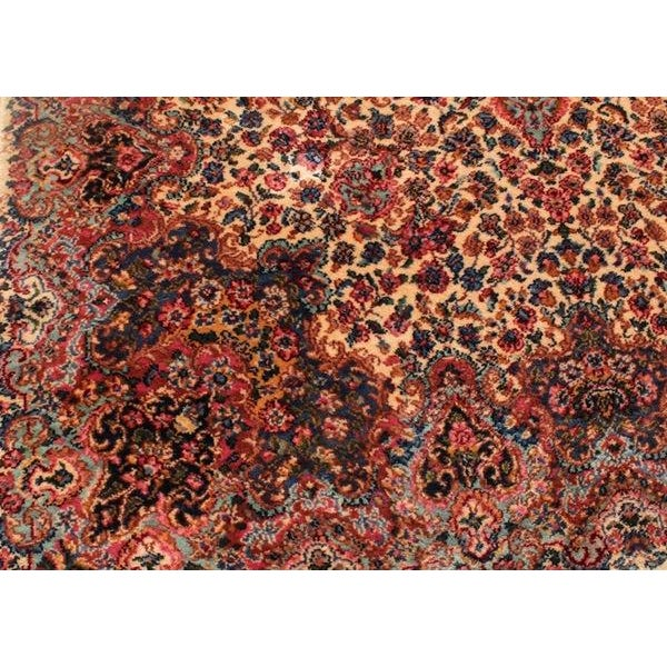 "Antique Karastan Kirman Wool Rug - 5′8″ X 9′7"""