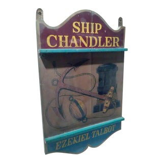 Vintage Ship Chandler Store Sign, 1950s-1960s
