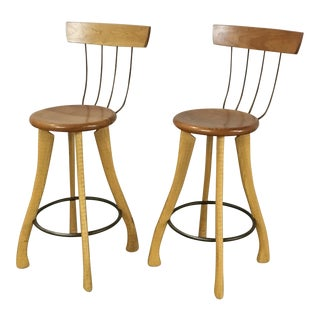 Brad Smith Pitchfork Counter Stools - A Pair