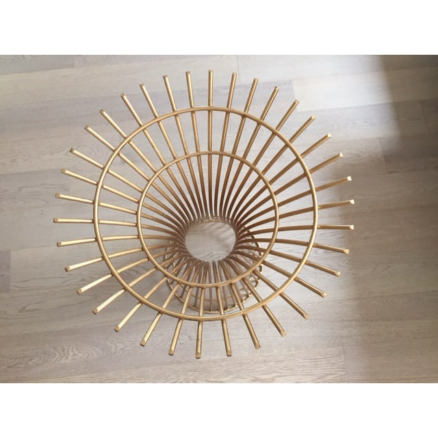 Gold Table Base & Glass Top Dining Table - Image 4 of 4