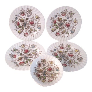 Vintage English Staffordshire Bouquet Ironstone Dishes - Set of 7