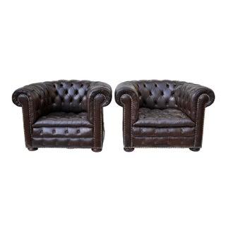 Ralph Lauren Chesterfield Club Chairs - A Pair