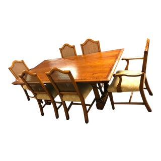 Windsor Furniture Natural Wood Dining Room Set