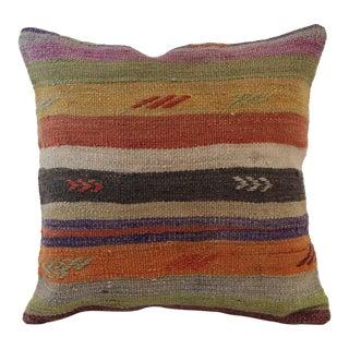 Vintage Turkish Handmade Wool Kilim Pillowcase
