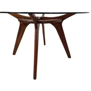 Adrian Pearsall Walnut and Glass Dining Table