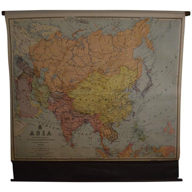 Vintage Map of Asia - Image 1 of 8