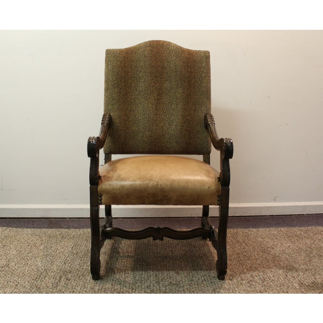 Designer Leather Chairs: Decorated Designer Leather Leopard Print Arm Chair