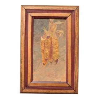 Late 19th Century Alfred E. A. Montgomery Hanging Corn Painting