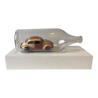 Vintage VW Bug in a Bottle