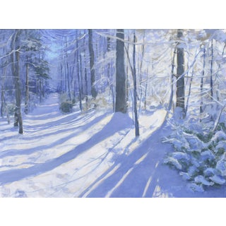 "Stephen Remick ""Path in Winter"" Painting"