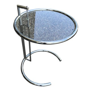Eileen Gray Chrome & Glass Side Table