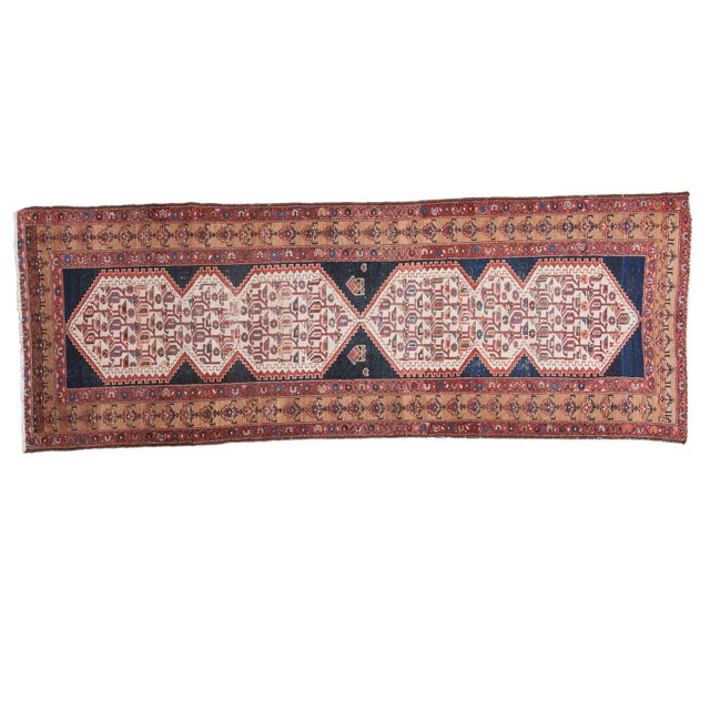 """Distressed Malayer Runner - 3'4"""" X 9'2"""" - Image 1 of 10"""