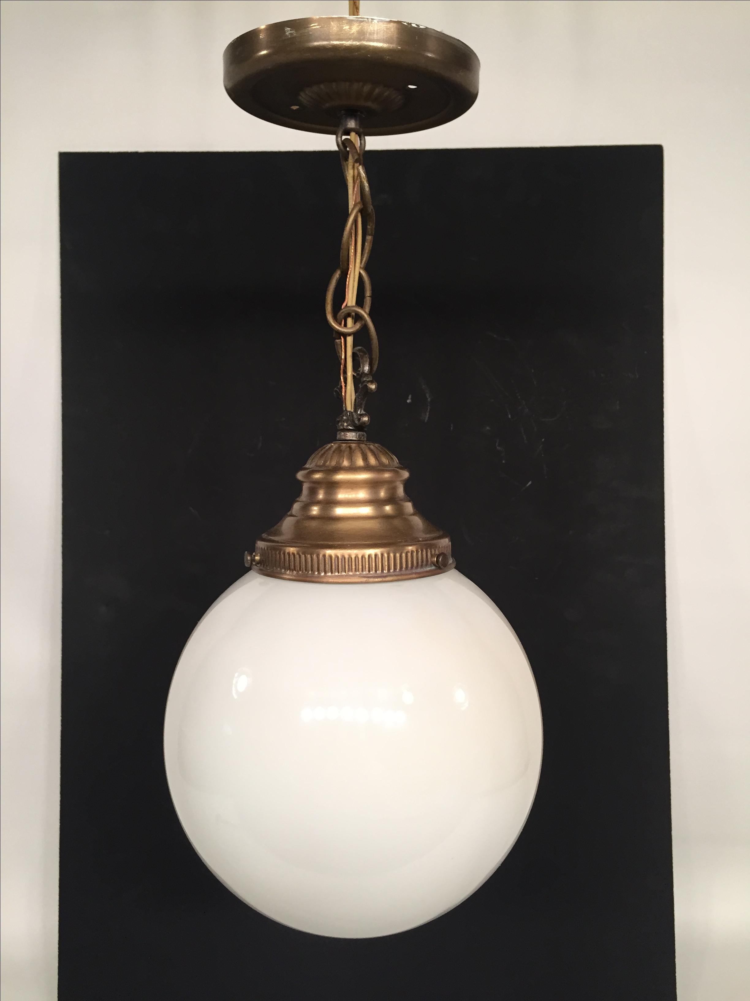 Brass Pendant Globe L& - Image 2 ...  sc 1 st  Chairish & Vintage Lavery u0026 Co. Brass Pendant Globe Lamp | Chairish azcodes.com