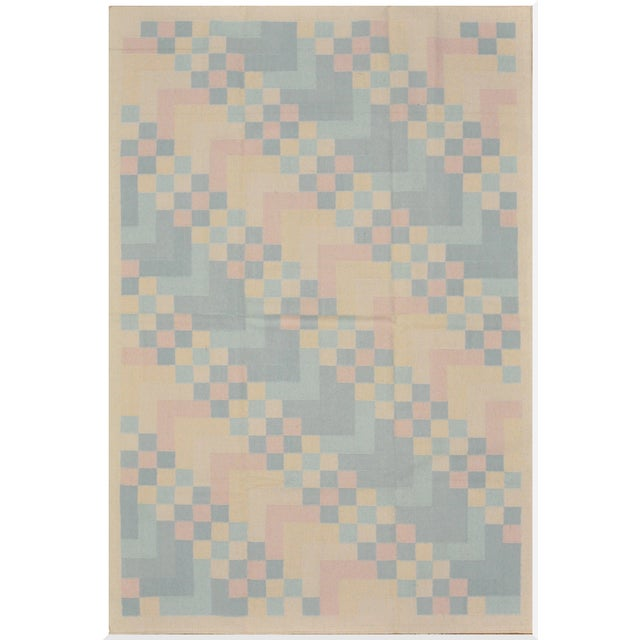 Reversible Indian Dhurry Rug - 6'1'' X 9'2'' - Image 1 of 5