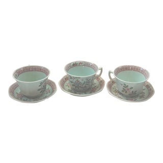Adam Cups and Saucers - Set of 3