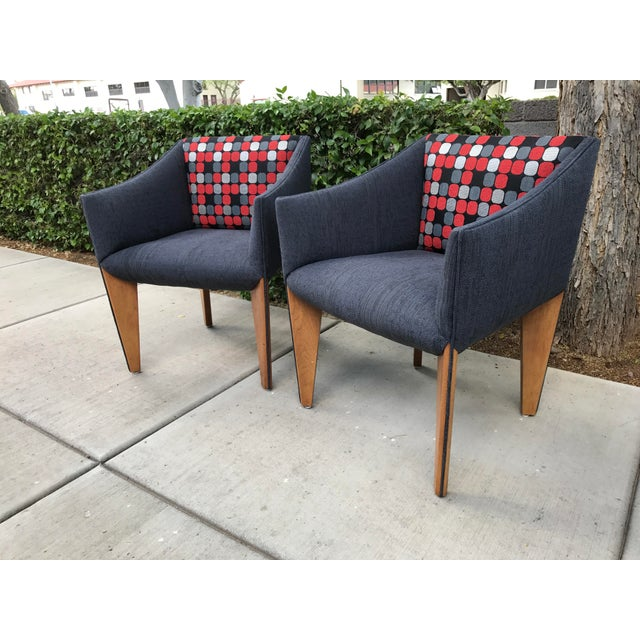 Mid-Century Modern Fin Leg Lounge Chairs - A Pair - Image 8 of 11