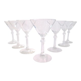 Mid-Century Stardust Martini Glasses - Set of 7